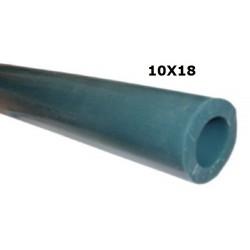 TUBO LATTE SILICONE VERDE 60° SHORE 10X18 ROTOLO 25 MT
