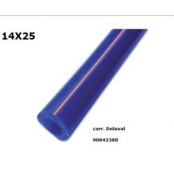 TUBO LATTE SILICONE 60° SHORE 14X25 ADATT. (DELAVAL 90842380)