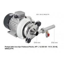 Pompa latte inox tipo Fullwood Packo, HP 1, 12.500 lt/h