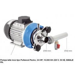 Pompa latte inox tipo Fullwood Packo, 3/4 HP, 10.000 lt/h