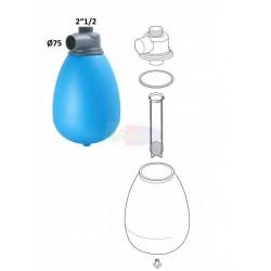 Serbatoio del vuoto in pvc completo di accessori, capacità 25 lt. – entrate ø 75